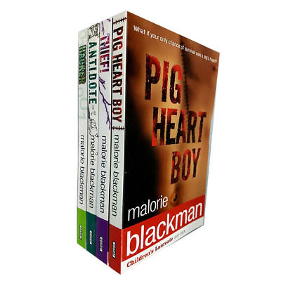 - Malorie Blackman Collection 4 Books Set Pig-Heart Boy Thief! Hacker BRAND New