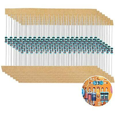 1280 Pieces 64 Values Resistor Kit 1 Assorted Resistors Ohm-10m 14w Metal Box