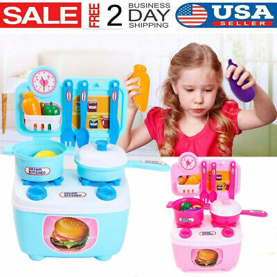 Kids Kitchen Set Pretend Toy Cooking Food Toys Educational Children Best