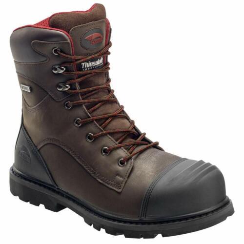 """Avenger 7575 Men's 8"""" Waterproof Work Boot Composite Toe Bro"""