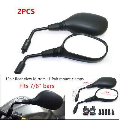 Motorcycle Rearview Mirror 8mm Handlebar Mount for Scooter ATV Dirt Bike Vehicle (8 Soil Formula)