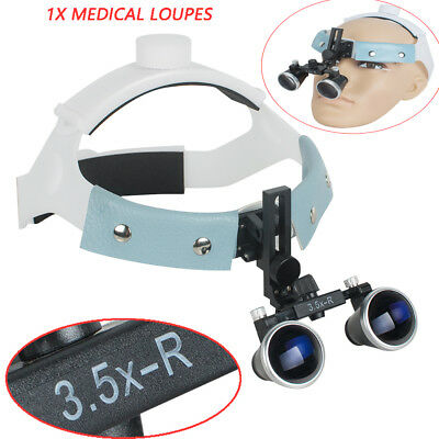 3.5x420 Headband Dental Surgical Medical Binocular Loupe Magnifier Glass Leather