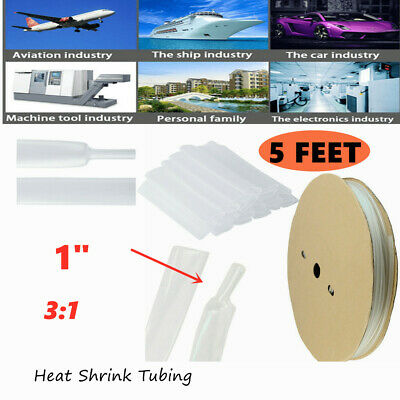 5ft 1heat Shrink Tubing Insulation Shrinkable Tube 31wire Cable Sleeve Clear