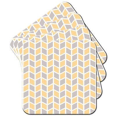 Grey Orange Modern Pattern Set of 4 Coasters