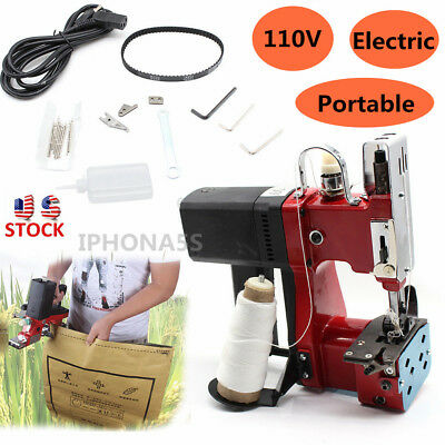 Industry Electric Bag Sewing Machine Sealing 110v Sack Stitching Closer Us Stock