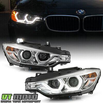 2012-2015 BMW F30 320i 328i 335i [HID w/AFS] LED DRL Dual Projector Headlights