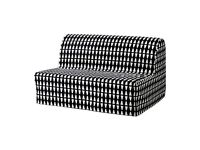 IKEA LYCKSELE double sofa bed double bed futon black and white DELIVERED