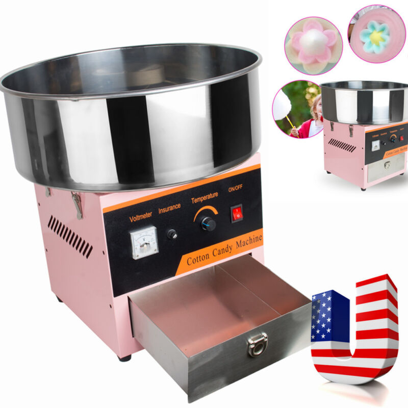 Electric Cotton Candy Machine Floss Maker Commercial Carnival Party Pink Ome USA