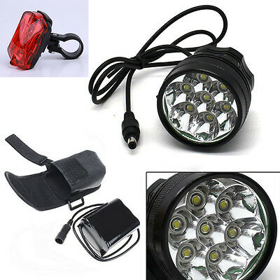 7x Cree XML T6 MTB 12000Lumen Mountain Bike Bicycle Cycling Head Light Headlamp