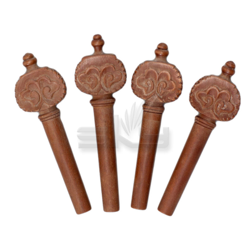 Antique Style Hand-Carved Jujube 4/4 Violin Pegs (4 pcs)