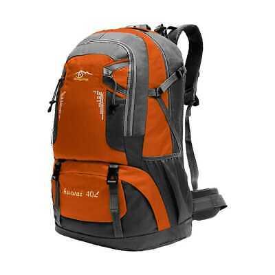 Mochila 40L 40 Litros Impermeable para Senderismo Montaña Militar Naranja