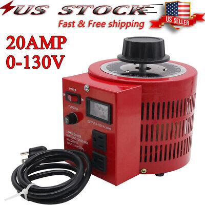 Variac Transformer Variable 2000w Ac Voltage Regulator Metered 0-130v 110v