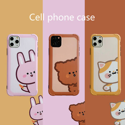Cute Bear Rabbit Xmas Christmas Gift Case Cover For iPhone 11 Pro Xs Max XR ()