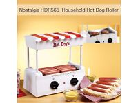Outdoor BBQ Hot Dog Roller Grill Maker BUN WARMER SAUSAGE 5 Roller Red H7N5