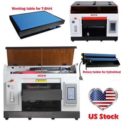 A3 UV Printer 6 Color &1390 Printed Head & Rotary Holder Cylindrical 3D Embossed