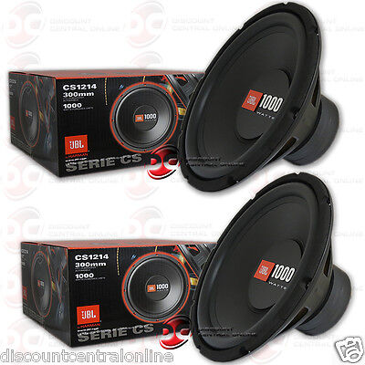 "2 x Brand name NEW JBL 12-INCH SINGLE 4-OHMS CAR AUDIO SUB WOOFERS 12"" SUBWOOFERS"