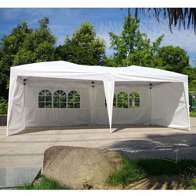 10 X 20 Outdoor Patio Gazebo EZ POP UP Party Tent Wedding Canopy W/Side Walls