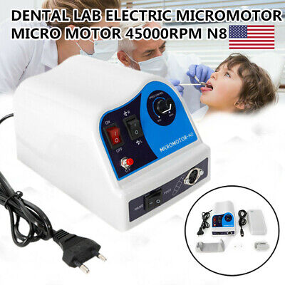Dental Micromotor N8 Polisher Unit For Marathon 45k Rpm With Pedal High Speed Us