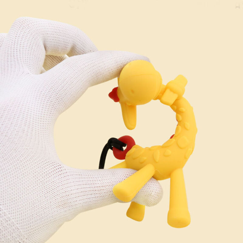 Food Grade Silicone Giraffe Baby Teether Toy Teething Pacifi