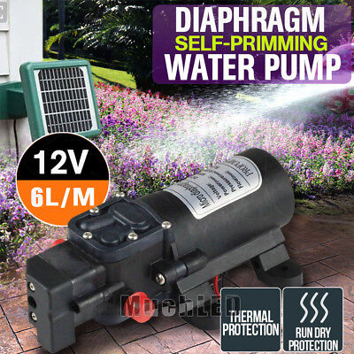 130 Psi Dc12v 80w 6lmin Water High Pressure Diaphragm Self Priming Pump Hot