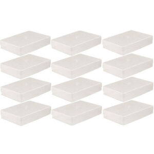 12 X A4 CLEAR PLASTIC BOX HOLDER PAPER STORAGE ENVELOPE CRAFT LEAFLET BOXES NEW