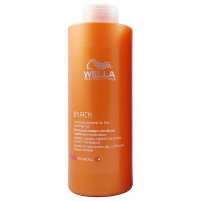 Wella Shampoo Enrich 1000 ml für normales dünnes
