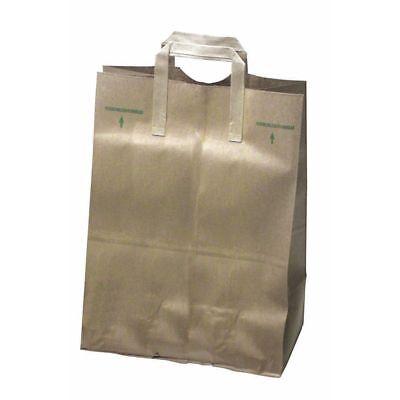 Natural Kraft Paper Grocery Sack W/Handle 1/6 Barrel 70 lb Heavy-Duty  -12