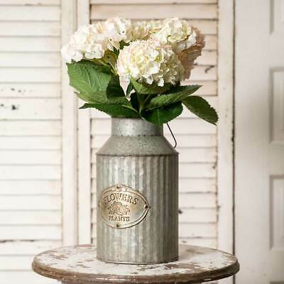 Galvanized Metal Flower and Plants Milk Can With Handle 12.5