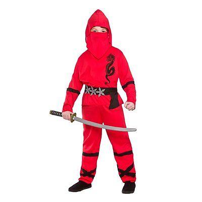 Red Power Ninja Kids Kostüm Halloween Japanischen (Ninja Kostüme Kid)
