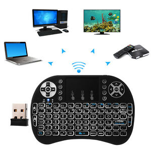 2.4G Mini Funk Kabellos Tastatur Airfly Mouse Combo Backlight Touchpad AC397