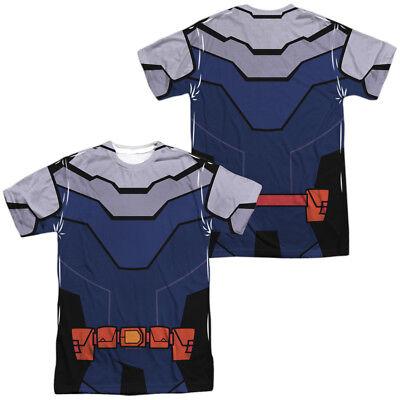Teen Titans Slade Costume (TEEN TITANS GO SLADE COSTUME Licensed Men's Graphic Tee Shirt)