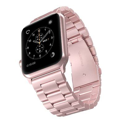Rose Gold Stainless Steel Replacement Band Bracelet Strap For Apple Watch 38/42 - Gold Stainless Steel Strap