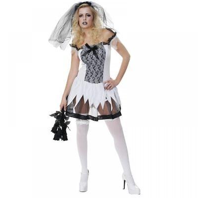 chsener Reiz Teen Braut Leiche Gothik Kostüm Kleid Outfit (Leiche Braut Kleid)