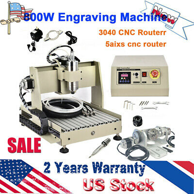 5axis Cnc 3040 Usb Router Engraving Machine Woodwork Cutter Control Box Vfd Us