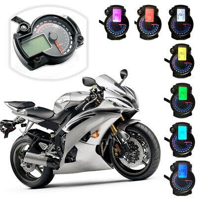 Motorcycle Speedometer Instrument LCD Digital Tachometer Gauge Odometer 7 Y1F6