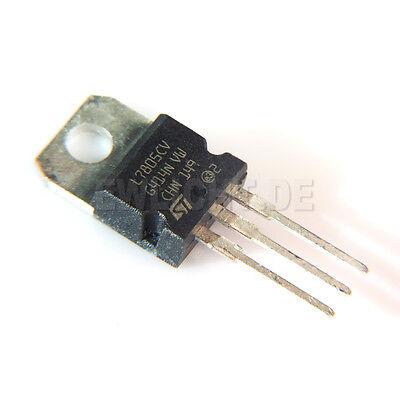 5x Spannungsregler 5V L7805CV 2-35V 1,5A L7805C NEU!