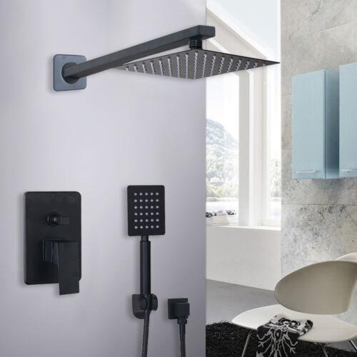 "Rainfall 6/"" Wall Mounted Shower Head Set Bathroom Hand Spray Mixer Faucet"