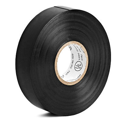6 Rolls Black Vinyl Electrical Tape 34 X 60 Ft Flame Retardant Ul Listed Rohs