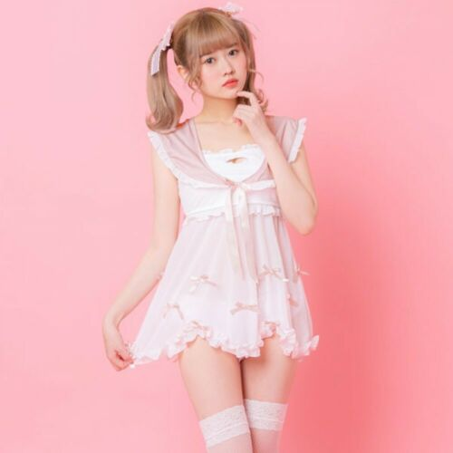 Sanrio My Melody Sailor Lace Swimwear Swimsuit Pink Women M/L Japan Cosplay