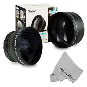 52MM Wide Angle Macro + Telephoto Zoom lens for Nikon D80 D90 D100 D3000 D3200