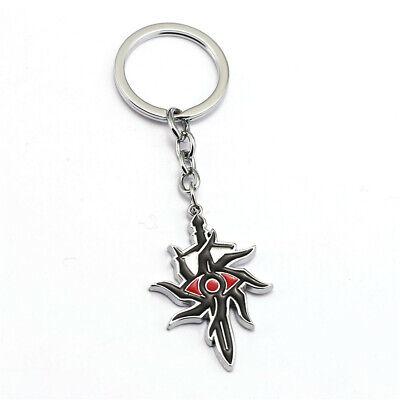 Dragon Age 3 Inquisition Keychain Black Enamel Evil Eye Pendant Key Ring Holder