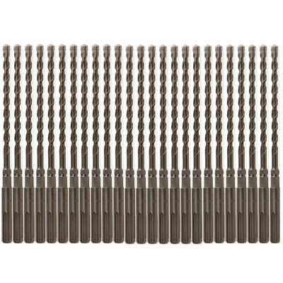 25pcs Sds Plus 14 X7 Rotary Hammer Concrete Masonry Drill Bit Carbide Tip