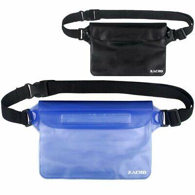 Zacro 2 Pack Borsa Impermeabile Custodia Impermeabile con Cintura Vita Blu+Nero