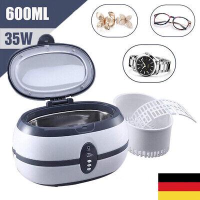 Digital UltraschallReiniger 600ml Reinigungsgerät Timer Brillen Schmuck