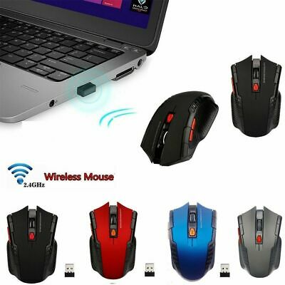 2.4GHz Wireless Cordless Optical Mouse Mice & USB Receive For Laptop PC Computer
