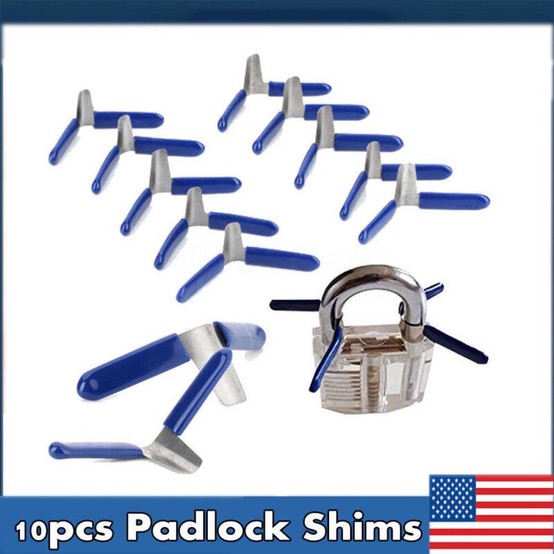 Padlock Shim Set Key Unlocking Accessories Tool Kit Without Lock HOT 10pcs Blue