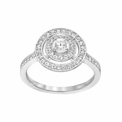 Swarovski Engagement Ring ATTRACT LIGHT DUAL Rhodium (Small/52/6) #5184214