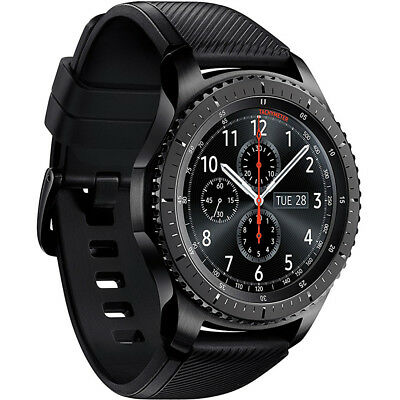 Samsung Gear S3 Frontier Bluetooth Watch w/Built-in GPS - Dark Gray