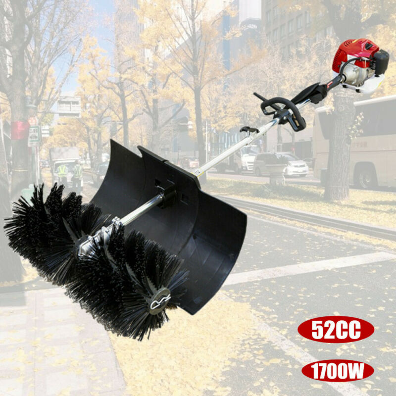 52CC 2 STROKE GAS POWER HANDHELD SWEEPER BROOM FOR CLEANING TURF LAWNS DRIVEWAYS