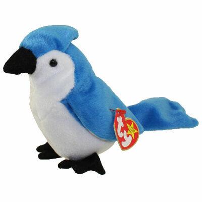 TY Beanie Baby - ROCKET the BlueJay Bird  - MWMTs Stuffed An